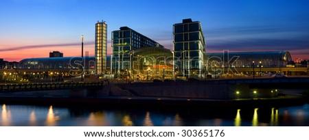 Panorama of Berlin Hauptbahnhof, main railway station