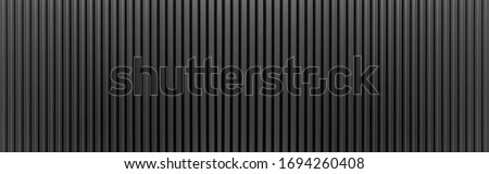 Panorama of Black Corrugated metal texture surface or galvanize steel Сток-фото ©