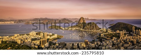 panorama of botafogo bay in ...