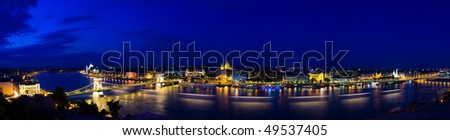 Panorama of Budapest in the twighlights