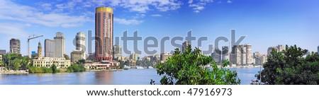 Panorama of Cairo city, Egypt.