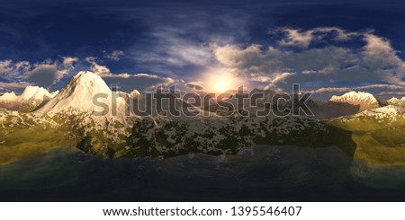 Panorama of Canyon. HDRI . equidistant projection. Spherical panorama. panorama 360. environment map, landscape, 3d rendering