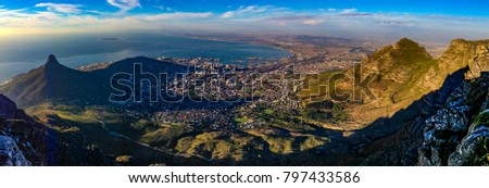 Panorama of Cape Town, South Africa #797433586