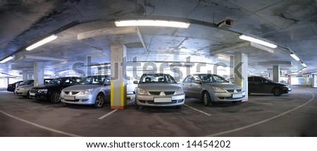 panorama of car`s parking