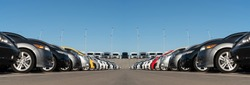 Panorama of cars market. Used car sales