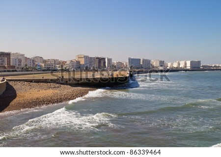 Panorama of Casablanca, Morocco. - stock photo
