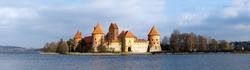 Panorama of Castle Trakai, Lithuania