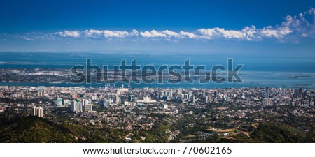 Panorama of Cebu city. Philippines. Cebu is the Philippines second most significant metropolitan centre and main domestic shipping port. #770602165