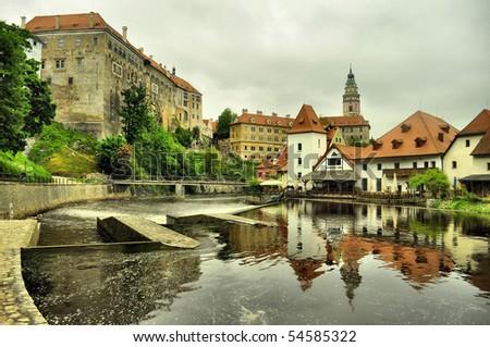 panorama of Cesky Krumlov (unesco)