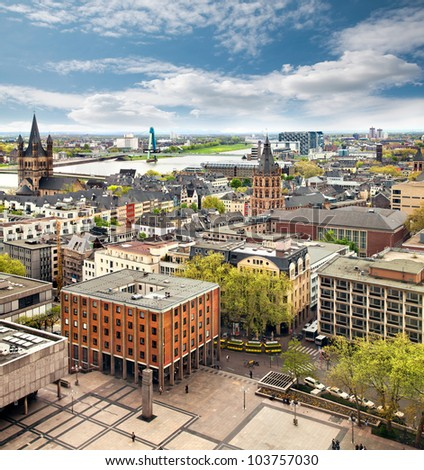 panorama of cologne germany stock photo 103757030 shutterstock. Black Bedroom Furniture Sets. Home Design Ideas