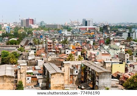 panorama of Colombo- the capital of Sri Lanka