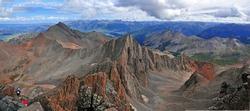 Panorama of Colorado 14er, Wilson Peak and the San Juan Range, Rocky Mountains, Colorado