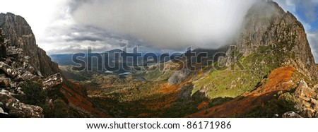 Panorama of Cradle Mountain, Tasmania, Australia