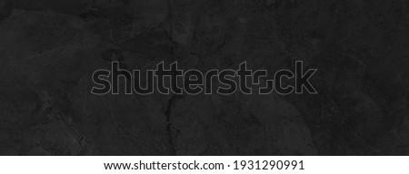 Panorama of Dark grey black slate background or texture. Black granite slabs background Foto stock ©