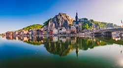 Panorama of Dinant in Belgium. Europe