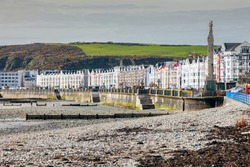 Panorama of Douglas on the Isle of Man. Douglas, Isle of Man.