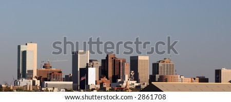 Panorama of Downtown of Phoenix, AZ