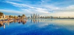 Panorama of Dubai Marina Skyline, United Arab Emirates