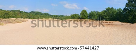 Panorama of dunes, in Hamburg Germany