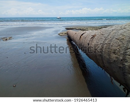Panorama of East Halmahera Buli Era beach Stock fotó ©