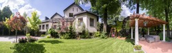 Panorama of exclusive residence with beauty gazebo