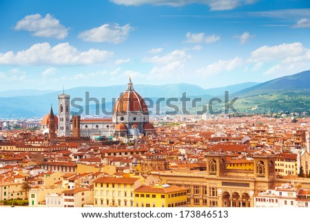 Panorama of Florence and Saint Mary of the Flower in Florence  Stock photo ©