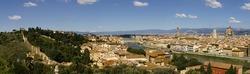 Panorama of Florence cross processed