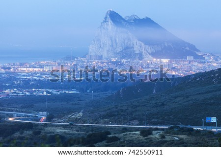 Shutterstock Panorama of Gibraltar and La Linea de la Concepcion. La Linea de la Concepcion, Andalusia, Spain.