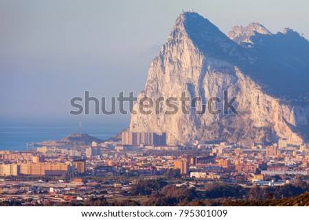 Shutterstock Panorama of Gibraltar seen from La Linea de la Concepcion. La Linea de la Concepcion, Andalusia, Spain.