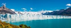 Panorama of glacier Perito Moreno in Patagonia, South America