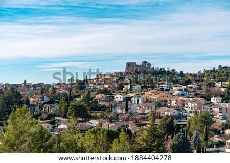 Panorama of Gréoux-les-Bains, Alpes de Haute Provence, France Zdjęcia stock ©
