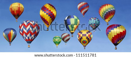 Panorama of Hot Air Balloons