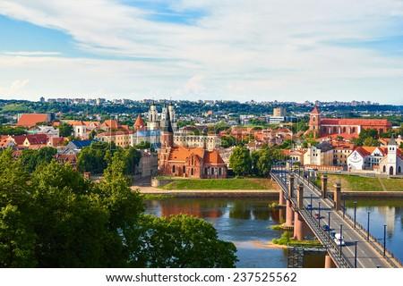panorama of kaunas from...