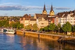 Panorama of Koblenz and Moselle river. Koblenz, Rhineland-Palatinate, Germany.