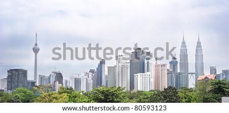 Panorama of Kuala Lumpur. Malasia