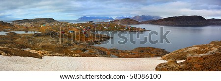 Panorama of Kulusuk, Greenland