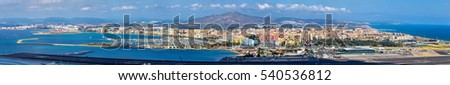 Shutterstock Panorama of La Linea de la Concepcion and Gibraltar Airport from the city of Gibraltar