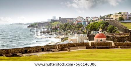 Shutterstock Panorama of La Perla slum in old San Juan, Puerto Rico