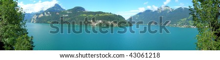 Panorama of Lake Lucerne