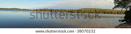 Panorama of Lake Medora, Michigan in the UP #38070232