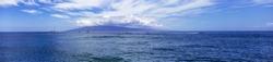 Panorama of Lanai Island in Hawaii