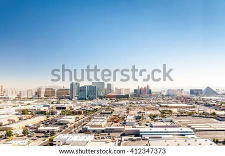 Panorama of Las Vegas, Nevada, USA #412347373