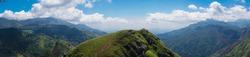 Panorama of Little Adam's Peak Mountain in Sri Lanka