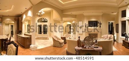 Panorama of Luxury Home Interior
