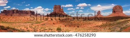 Panorama of Monument Valley, Utah, USA