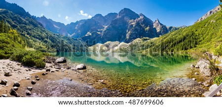 Panorama of Morskie Oko Stock fotó ©