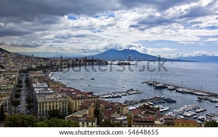 panorama of Naples bay