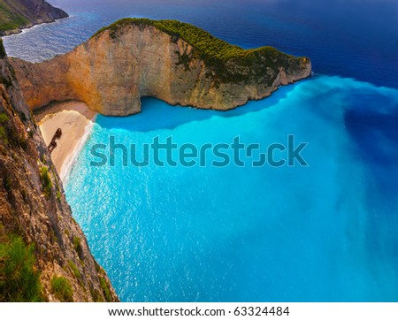 Panorama of Navagio beach
