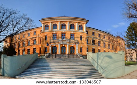 Panorama of Negruzzi High school from Iasi, Romania