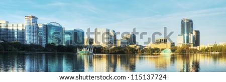 Panorama of Orlando - stock photo